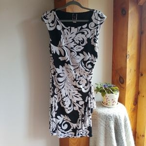 Black and White Wrapper dress